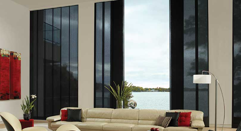 Skyline Gliding Window Panels by Hunter Douglas close-up