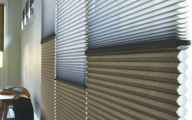 Insulating Duette Cellular Honeycomb Shades With Duolite Closeup Fabric Collection From Hunter Douglas Close Up