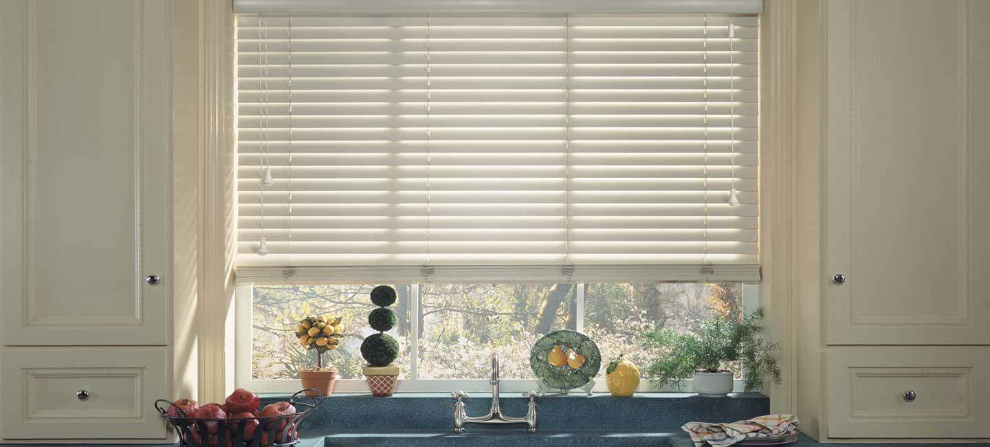 First Edition Alternative Wood Blinds from Hunter Douglas