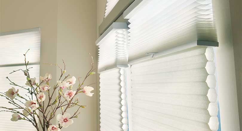 Applause economical honeycomb shades by Hunter Douglas close-up
