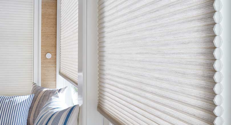 Duette honeycomb shades by Hunter Douglas close-up