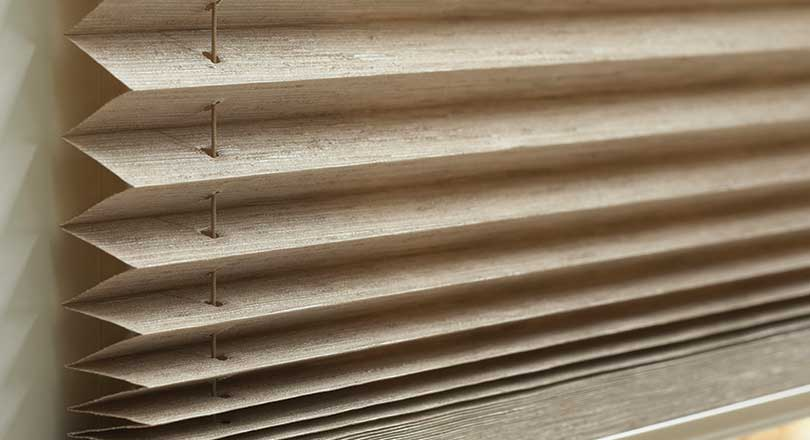 Pleated Shades by Hunter Douglas close-up