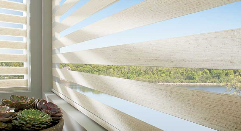 Designer Banded Shades by Hunter Douglas close-up