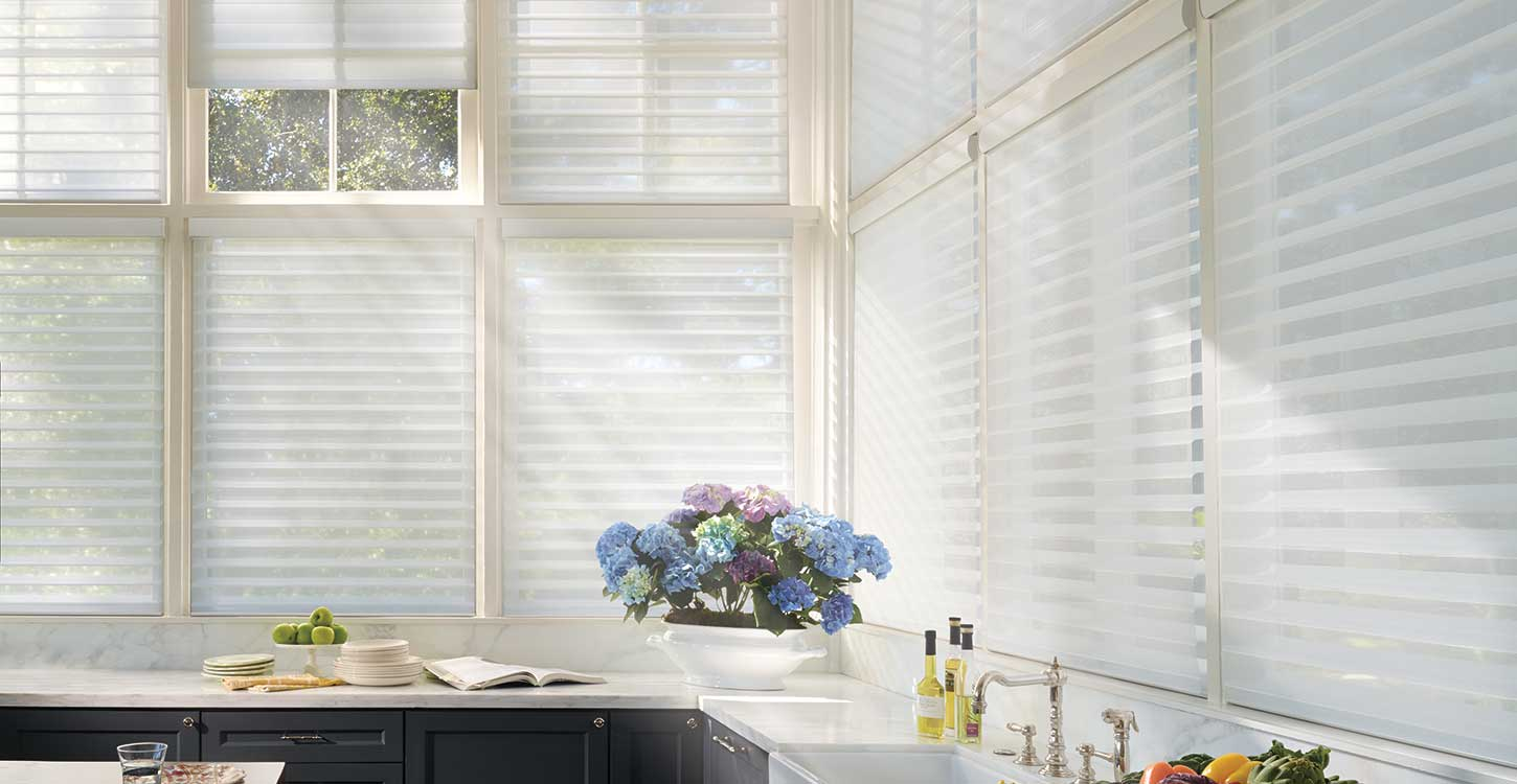 Hunter Douglas Alutra collection and Silhouette Shadings