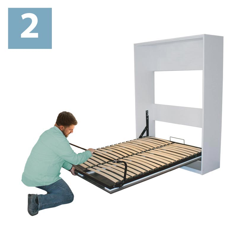 How to close your wallbed step 2