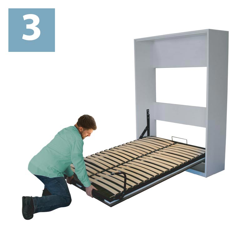 How to close your wallbed step 3