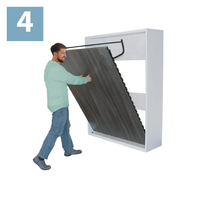 How to close your wallbed step 4