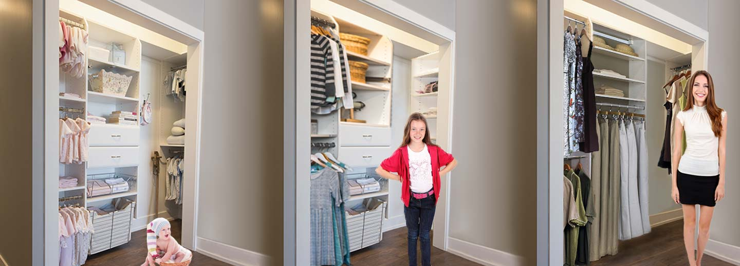 How to move a Closet Works accessory or component, creating your best closet systems