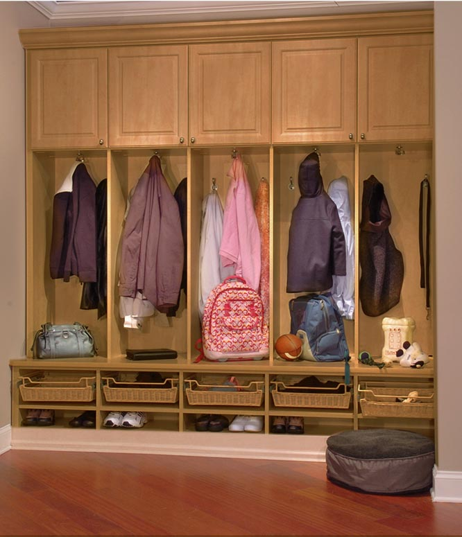 Closet Works custom mud room storage organization system