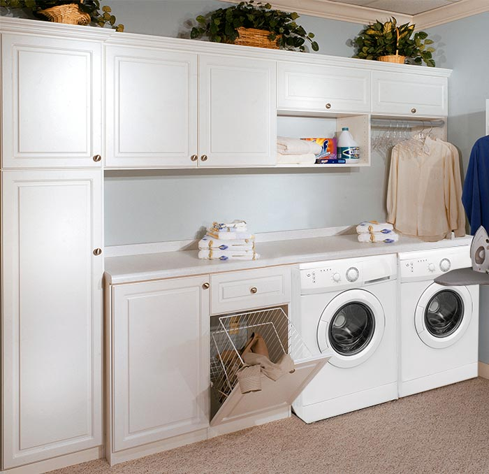 Custom Laundry Room Cabinets And Storage That Makes Laundry Chores Fun