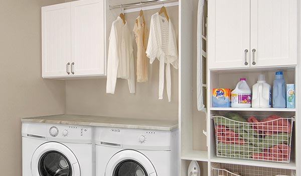 custom laundry room cabinets for a small laundry room