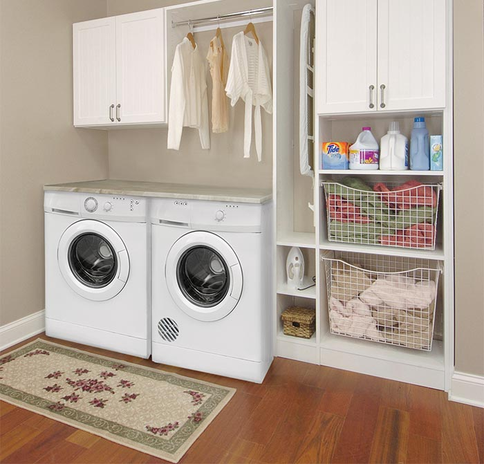 Closet Works - Chicago Laundry Room Storage Cabinet - Linen Closet ...