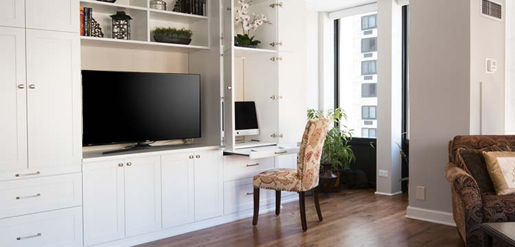 Home Office In A Cabinet