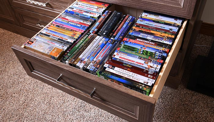 Media Center And Home Theater Storage System For Family Room