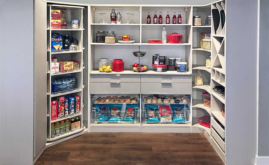 pantry with 360 Organizer for holiday organization