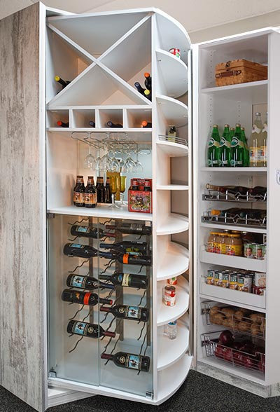 wine storage in a 360 Organizer rotating wine closet