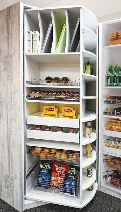 pantry with customized 360 Organizer by Lazy Lee in Memento and Morning Dew
