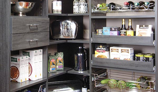 Corner Pantry Organizer With Pull Out Shelves