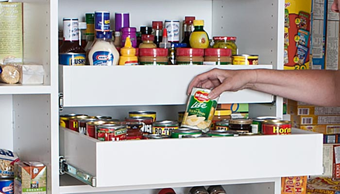 Kitchen Pull Out Pantry Shelves: Reach In Pantry Shelving With Pantry Pull Out Organizers