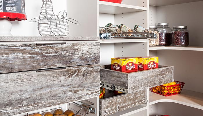 Pantry pull-out organizers add organization