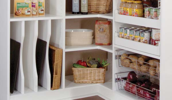 Custom pantry shelving system