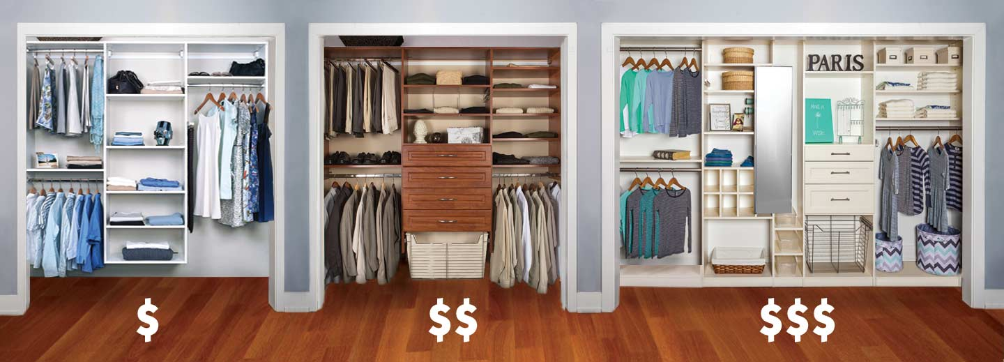 Have a total budget in mind before selecting a closet designer