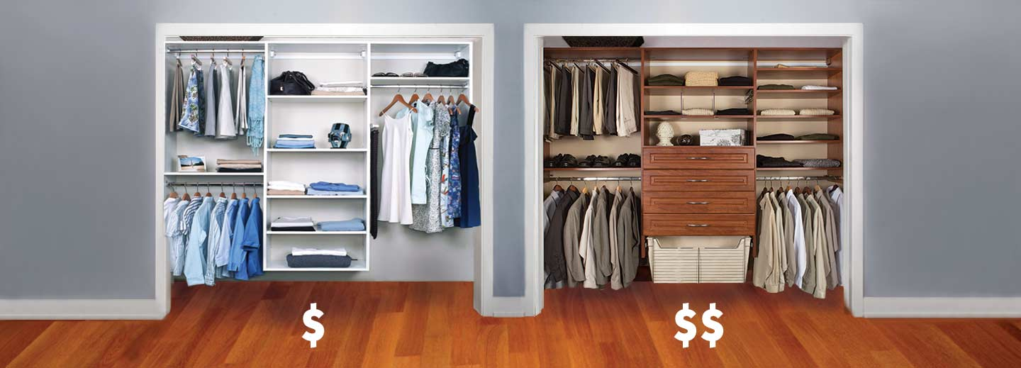 example of lower priced closets