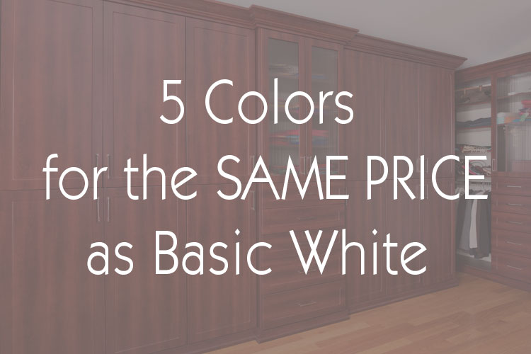 Five colors for the price of white promotion