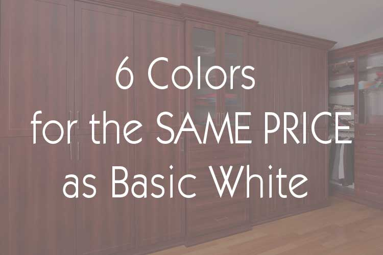 Six colors for the price of white promotion