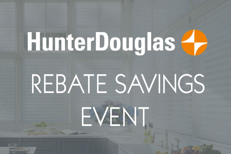 Window treatment savings from Hunter Douglas