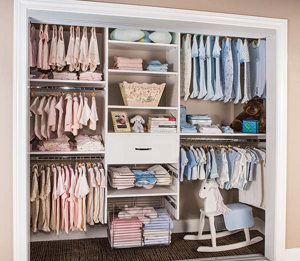 Custom Kids Closet For Multiple Babies And Toddlers