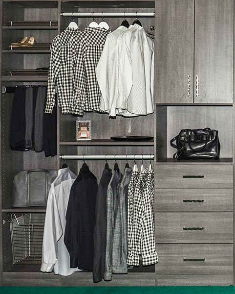 tiny closet takes advantage of the best small reach in closet ideas