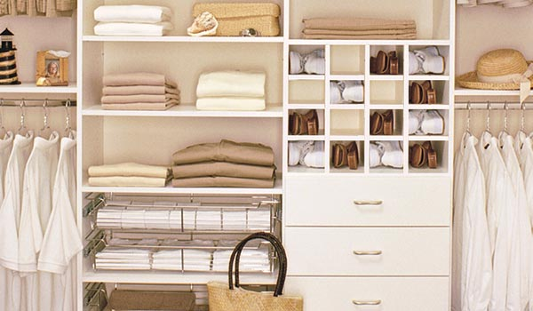 Reach In Closets Ideas With Shoe Cubbies And Baskets