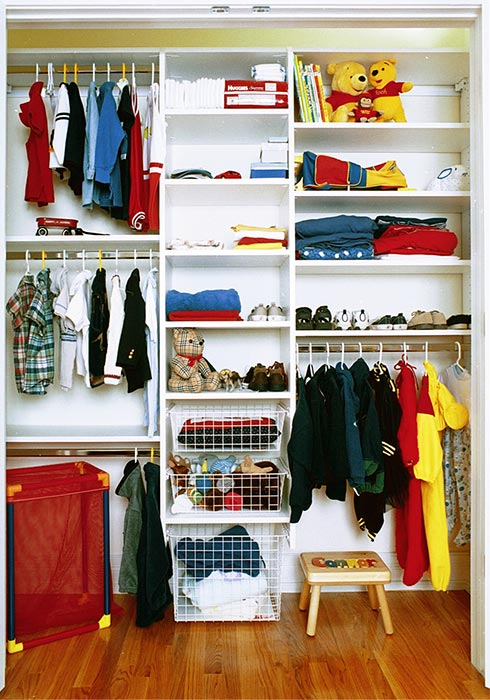 Kid Closet Design For New Baby Maximizes Small Space