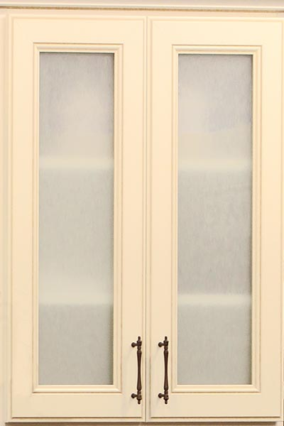 Frosted Glass Doors On Closet Built Ins