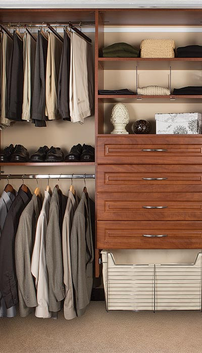 double hang increases storage in professionally designed closet