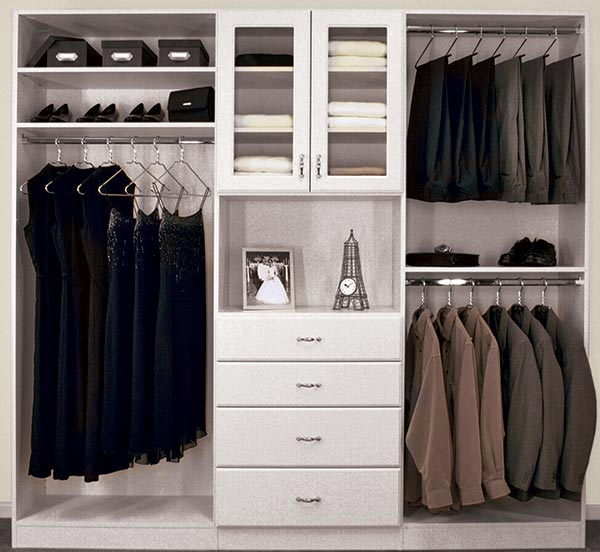 Superieur Closet Design With Hutch And Gl Door Cabinet