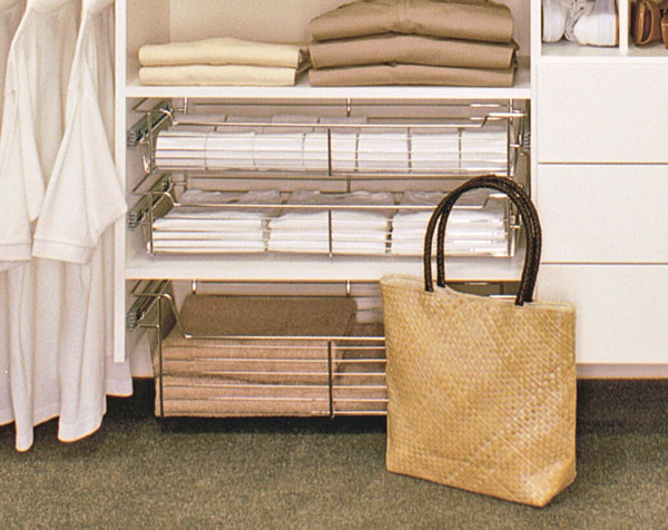 wire baskets for bedroom closet