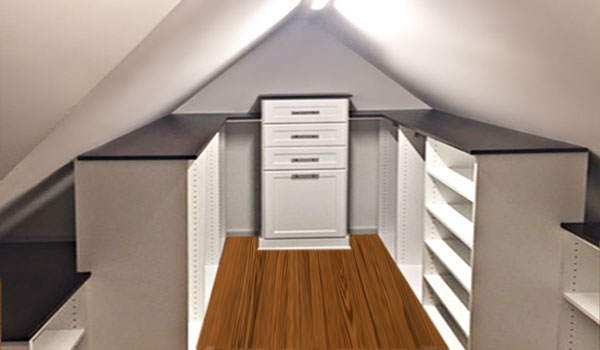 Attic Closet With Slanted Ceiling