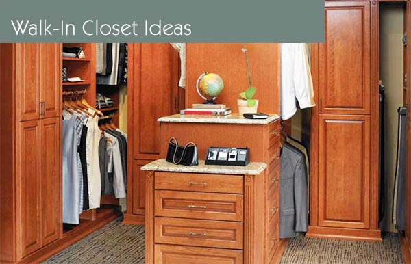 walk-in closets, closet organizers and closet organization systems