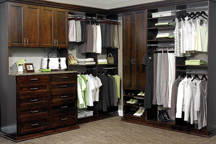 Walk In Closet Organization System Cocoa Laminate Finish