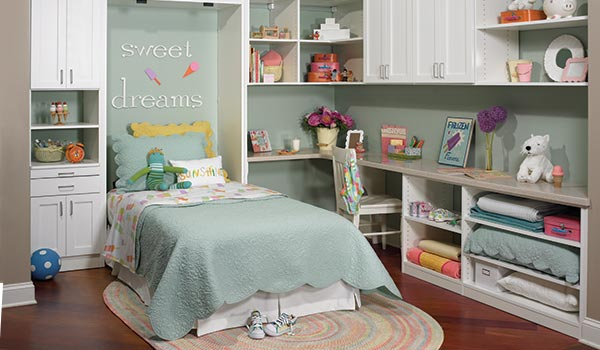 Murphy bed adds a second bed to child's bedroom