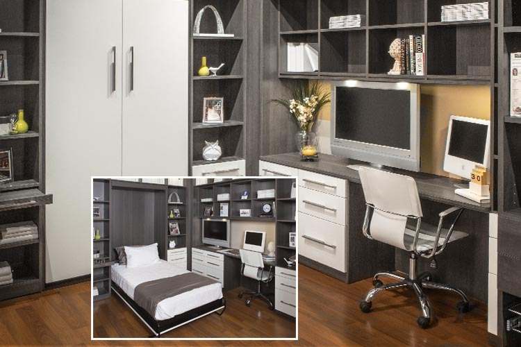 Awe Inspiring Closet Works Combination Home Office Murphy Style Wall Bed And Largest Home Design Picture Inspirations Pitcheantrous