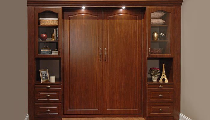 Den With Murphy Bed That Folds Into Wall