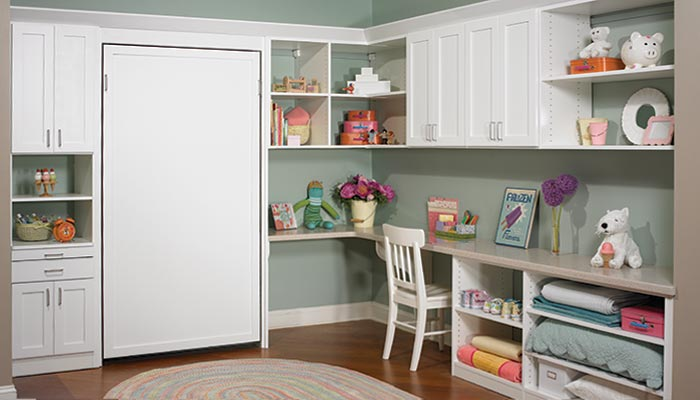 space added  for childhood sleepovers using Murphy bed