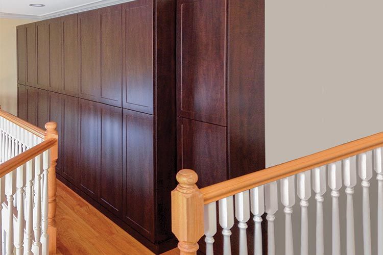 custom wardrobe closet cabinets system reclaims wasted space for wardrobes on landing
