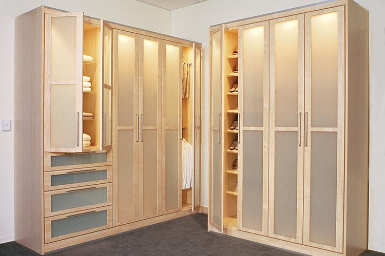 Design For Custom Wardrobe Closets With Frosted Glass Doors For Custom  Wardrobes